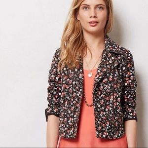 Anthropologie Hei Hei Tinsley Moto Floral Jacket
